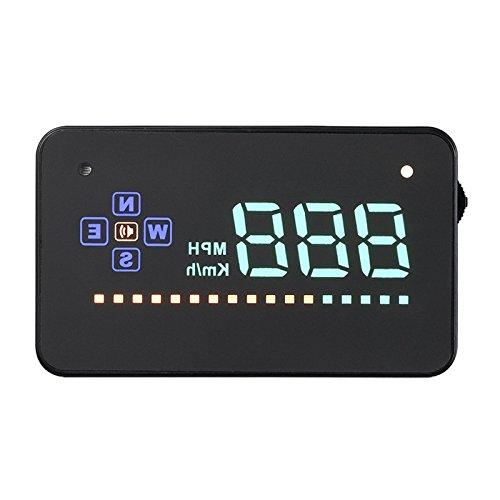 TOOGOO(R) A2 Universal 3.5 Screen Auto Vehicle GPS Dashboard HUD Overlooking Car Display Head Up Speedometer