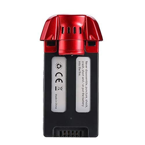Ocamo Halloween 3.7V 1000mAh 3.7Wh Li-po Rechargeable Battery Spare Parts Accessories for S30W RC Drone Quadcopter red