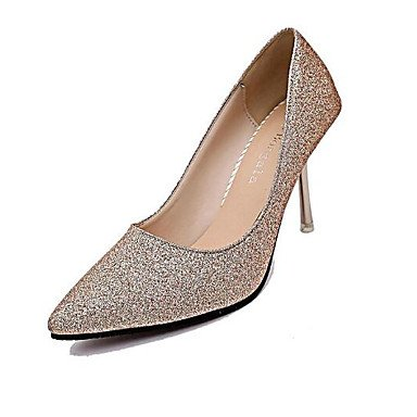 Silver Escarpin Vrai 9 Femme Cuir Automne 5 Polyuréthane Confort Or Talons À Hiver 5 7 Cm Argent Basique Chaussures Décontracté Desy R4d0Xd