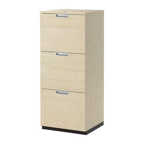 Ikea File cabinet, birch veneer 34210.22014.28