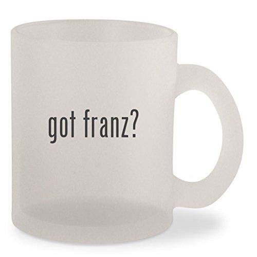 got franz? - Frosted 10oz Glass Coffee Cup - Franz Mykita