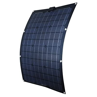 Nature Power 56703 50-watt Semi-Flex Monocrystalline Solar Panel for 12-volt Charging