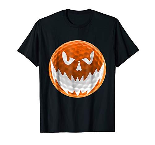Mens Golf Ball Pumpkin Halloween Face Costume T-Shirts XL Black -