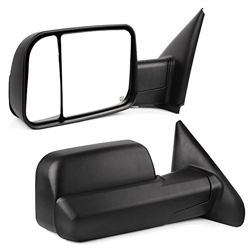- YITAMOTOR Towing Mirrors Compatible for Dodge Ram, Power Heated Manual Flip-up Folding Tow Mirrors, for 2002-2008 Dodge Ram 1500, 2003-2009 Dodge Ram 2500 3500