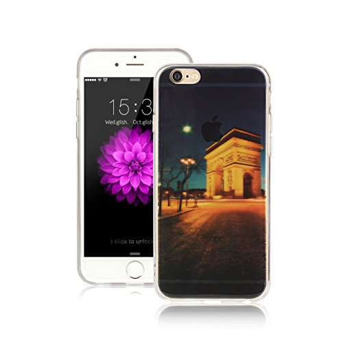 Für Apple iPhone 6 / iPhone 6S (4.7 Zoll) Hülle ZeWoo® TPU Schutzhülle Silikon Tasche Case Cover - AK003 / Triumphbogen