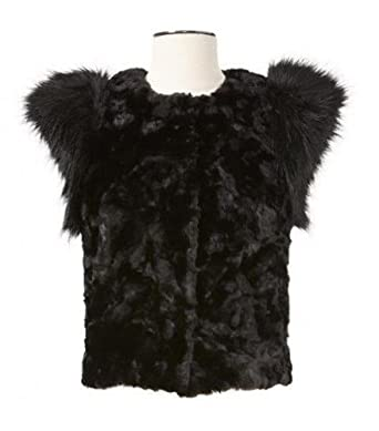 0eb4034fb Neiman Marcus Skaist Taylor Black Faux Fur Vest Jacket at Amazon ...