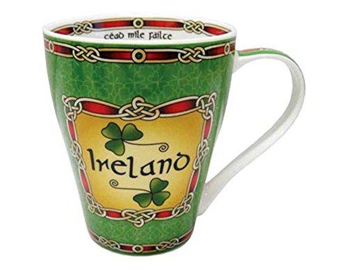 (Emerald Isle Ceramic Mug Collection With Ireland Shamrock Design)