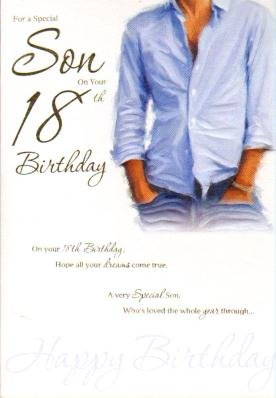 Special Son 18th Birthday Card