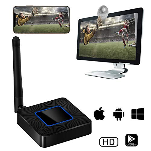 5G WiFi Wireless Display Dongle, Venoro Full HD 1080P HDMI Screen Mirroring Mini Display Adapter Support Miracast/Airplay/DLNA/WIDI for iOS/Android/Mac OS/Win 8.1+ (Q4)