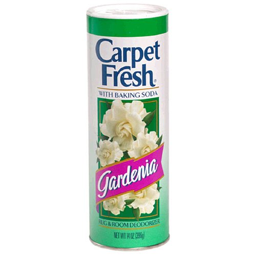 - Carpet Fresh Rug and Room Deodorizer with Baking Soda, Gardenia Fragrance, 14 OZ [12 Pack]