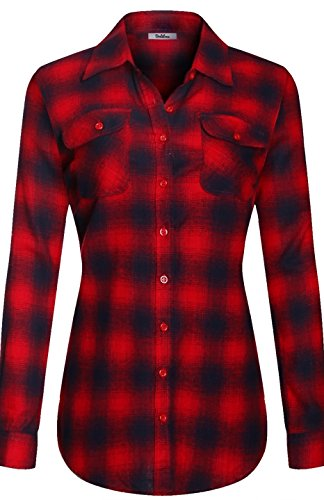 bodilove-womens-warm-flannel-long-roll-up-sleeve-button-up-plaid-shirt-red-navy-l-ins-1543st