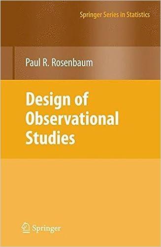 Design of Observational Studies (Springer Series in Statistics)