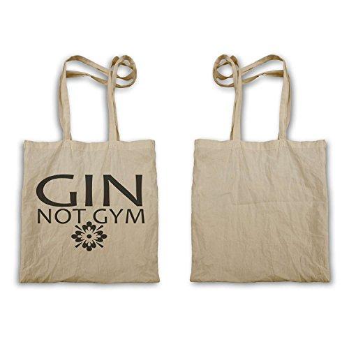 Gin Non Palestra novità Sport Gin Tonic divertente tote bag e47r
