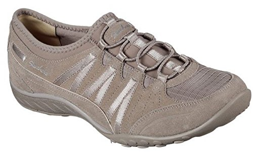 Skechers Womens Relaxed Fit: Breathe Easy - Moneybags Sneaker Taupe Size 8