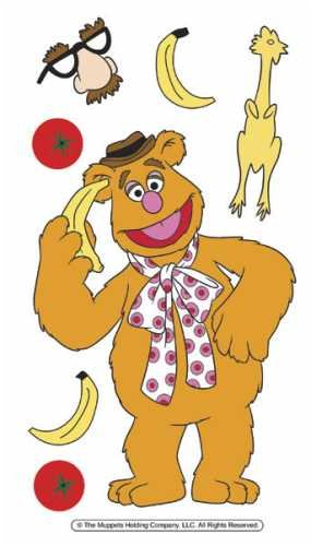 Disney The Muppets Dimensional Stickers - Fozzie Bear - Fozzie Bear Muppets
