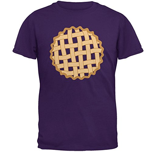 Purple Pie Man Costume (Halloween Lattice Pie Costume Grape Mens T Shirt Purple MD)