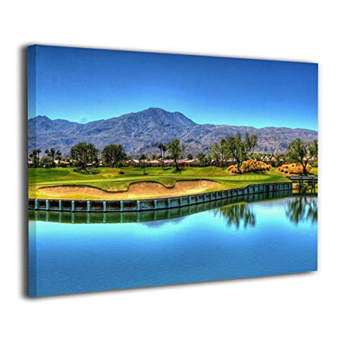 (Baohuju Mountain Golf Course Landscape Canvas Wall Art Prints Picture Modern Paintings Giclee Artwork Home Decor Wood Frame Gallery Wrapped 20