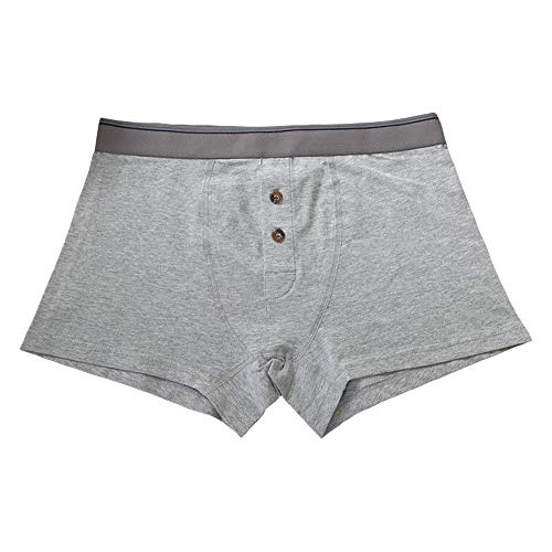 Hao Run Mens Cotton Trunk Boxer Japanese Button Front Shorts Briefs Soft Underpants -