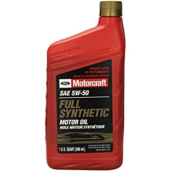 Genuine ford fluid xo 5w50 qgt sae 5w 50 full for 5w50 synthetic motor oil