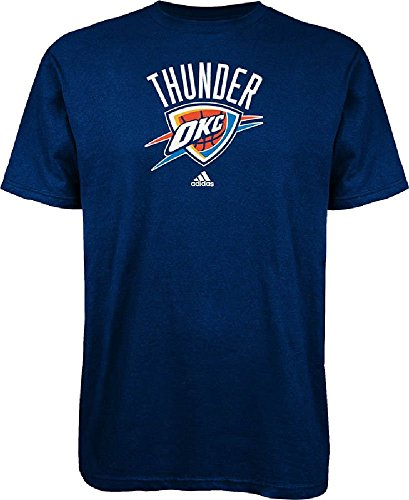 adidas Oklahoma City Thunder Navy NBA Primary Logo Short Sleeve T Shirt (S=34)