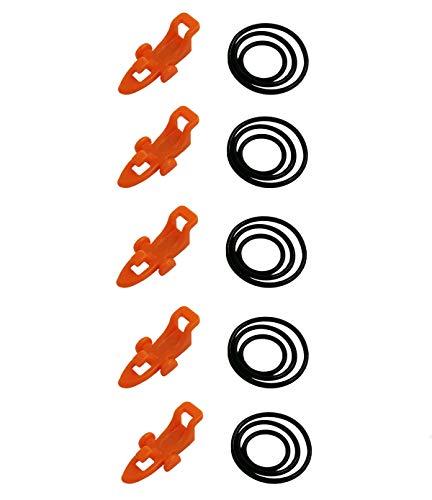 MonkeyJack 5 Pieces Plastic Fishing Rod Easy Hook Keeper Holder Rod Clip Hanging Baits Multicolor Fly Rock Fishing Rod Easy Hook Lures Baits Fishing Accesorios