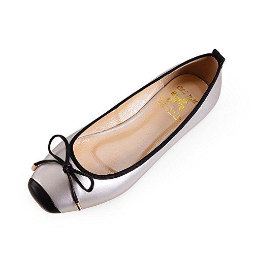 primavera zapatos de moda casual mujer/ zapatos de gran tamaño/Pisos arco cuadrado superficial D