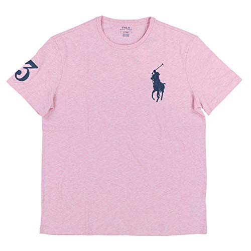 Polo Ralph Lauren Mens Crew Neck Big Pony T-Shirt (X-Large, Pink)