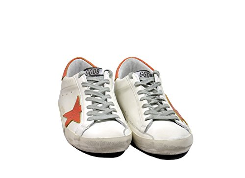 Golden Goose Sneakers Bianco Rosso