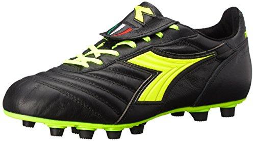 Diadora Men's Brasil S.P.A. Soccer Cleat, Black/Yellow, 6 M US Diadora Soccer Socks