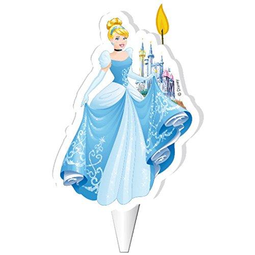 Vela para tarta de cumpleaños Disney con diseño de Princesa ...