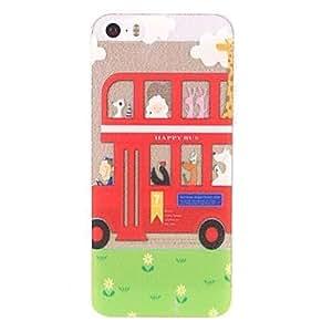 Mini - Cartoon Bus Design PC Hard Case for iPhone 5/5S