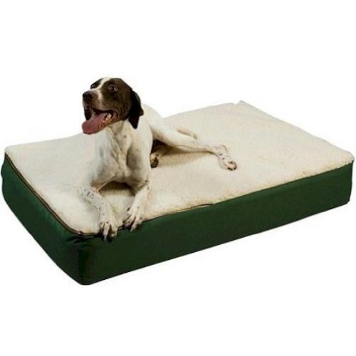 Burgandy with Black Sherpa MediumSnoozer 95011 Large Super Orthopedic Senior Dog Bed, Black with Cream Sherpa