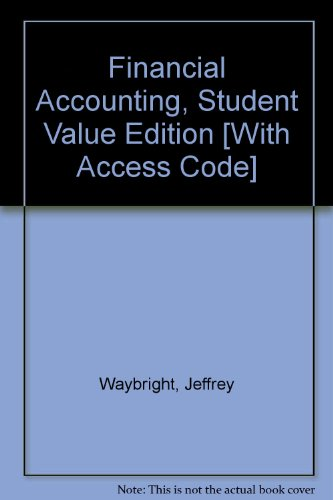 Financial Accounting, Student Value Edition and MyAccountingLab Student Access Code Card Package