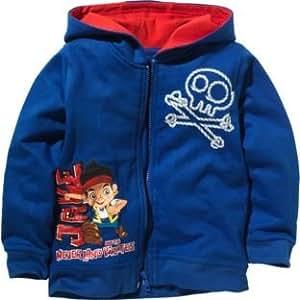 Disney Junior Jake y los piratas de Nunca Jamás Zip Hoodie * Licencia Disney mercadería * Para niños 3–4años