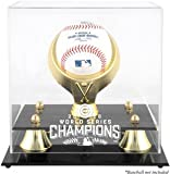 Chicago Cubs 2016 World Series Baseball Display Case With Gold Ring