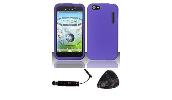 Zizo TrustedSellers Funda con Tapa para Alcatel One Touch Ultra 995 lápiz Capacitivo de Goma púa para Apertura Morado: Amazon.es: Electrónica