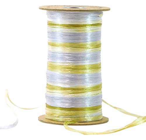 Raffia 2-Color Silver & Antique Gold Anniversary Combination Pearl Finish (Trim Raffia)