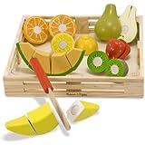 Melissa & Doug Cutting Fruit Set - Wooden Play Food Kitchen Accessory