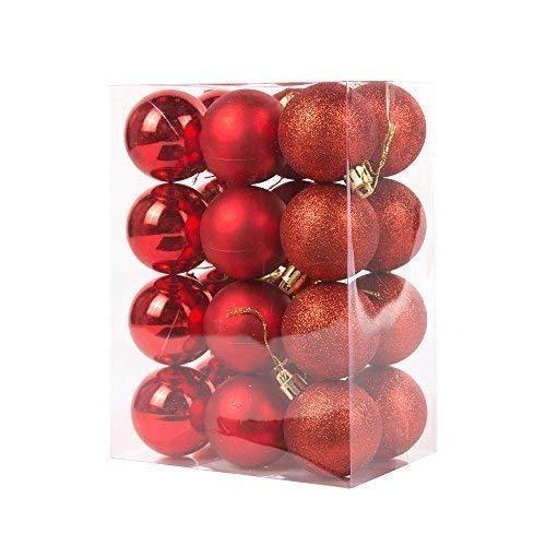 Luxury Matt Retro Shatterproof Christmas Tree Baubles 20 x Assorted Multicolour 50mm