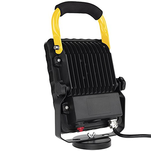 Bayco SL-868 Led Work Light W/Magnetic Base On Retractable Reelblack/Yellow