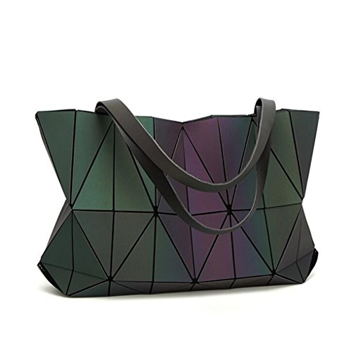 Opaco Donna Borsa Di Luminous Geometry A Luminoso Forma Borse Colore Pieghevoli Blue Deep Diamante 4wU1nq