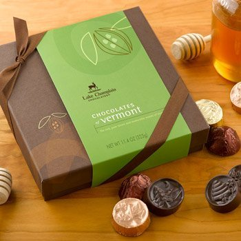 Lake Champlain Assorted Chocolates of Vermont Gift Box, 24 Pieces, 11.4 Ounces made in New England