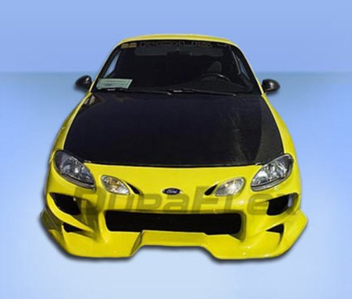 Duraflex Replacement for 1998-2003 Ford Escort ZX2 Vader Front Bumper Cover - 1 Piece (Front Bumper Escort Ford Cover)