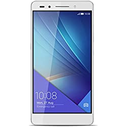 Honor 7 Smartphone 4G, Display Full HD 5.2 pollici, Processore Kirin 935 octa core 2.2 GHz, 16 GB Memoria interna, 3GB RAM, Fotocamera 20MP, Dual SIM, Batteria 3100 mAh, Argento