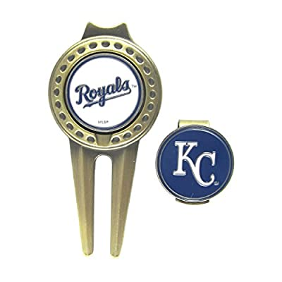 Kansas City Royals Hat Clip & Divot Tool with Golf Ball Markers