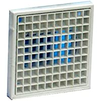 Bulk Hardware BH04156 100 mm Egg Crate Style Multi-Fit Vent Grill - Silver