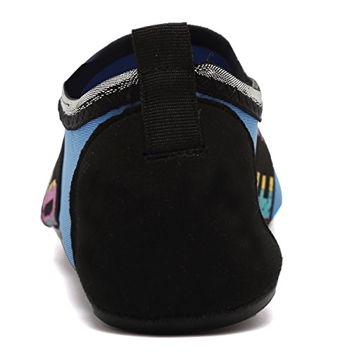 VIFUUR Water Sports Shoes Barefoot Quick-Dry Aqua Yoga Socks Slip-on For Men Women Kids Loveblue bHfOR3blb7