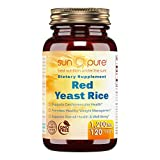 Sun Pure Premium Quality Red Yeast Rice 1200 mg Tablets Glass Bottle 120 Count Per Bottle – Supports Overall Health & Well-Being- Supports Cardiovascular Health – Supports Healthy Weight Management Review
