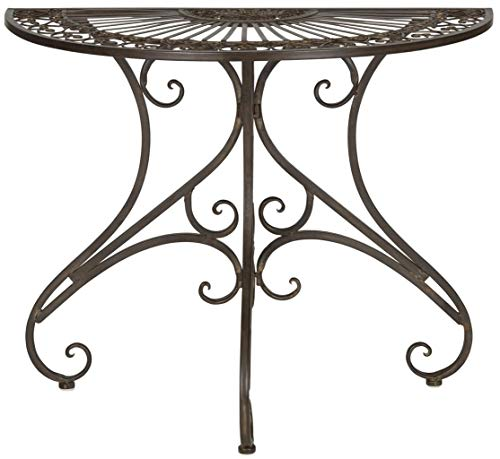 Safavieh Outdoor Collection Annalise Rustic Brown Accent Table (Mosaic Nesting Tables)