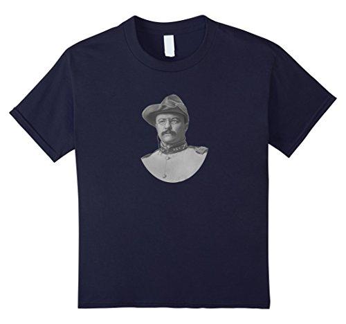 Theodore Roosevelt Rough Riders T-Shirt - Kids 6 - Navy
